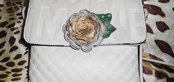 Украшение из кожи «Роза»