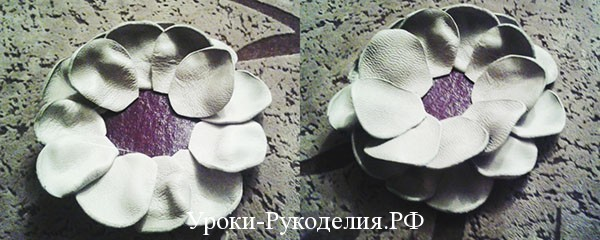 цветок из кожи, мастер -класс, декор, аксессуар из кожи