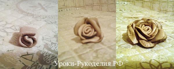 цветочное украшение, цветок из кожи, роза, как сделать