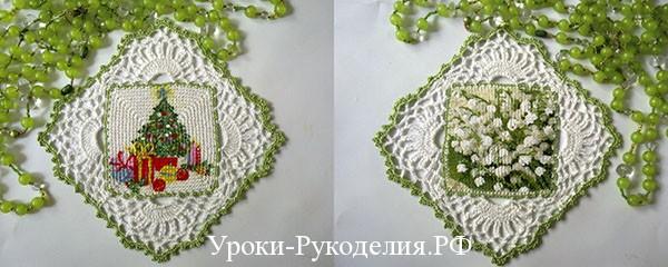 декупаж на ткани, вязание крючком, подарок, сувенир, декор