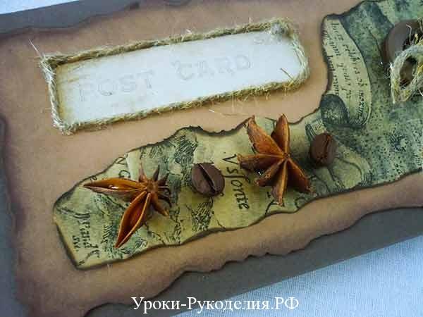 декор из койных зёрен, бадьян, ароматный подарок