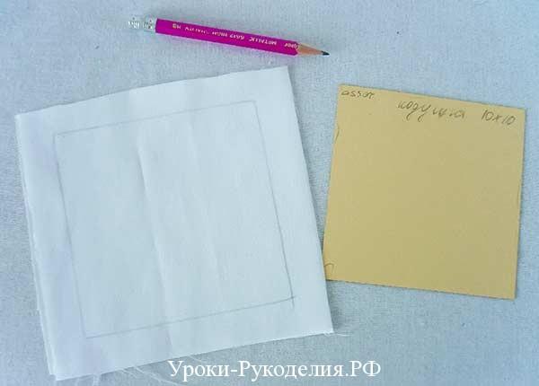 шитьё, подушка для колец, как выкроить, атласная лента