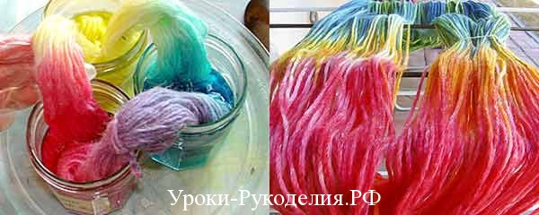 Как покрасить ткань в домашних условиях синькой 729