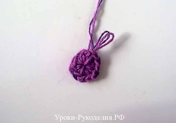 как связать объёмный цветок, цветы вязанные, вязание цветов крючком, украшение на сумку, вязание крючком для детей