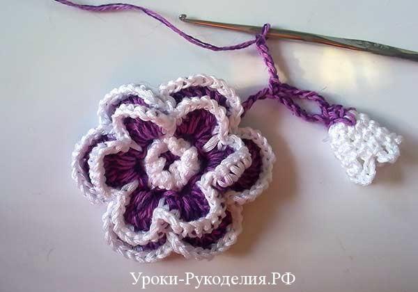 цветочный букет крючком, как связать на сумочку цветы, украшение цветочное своими руками