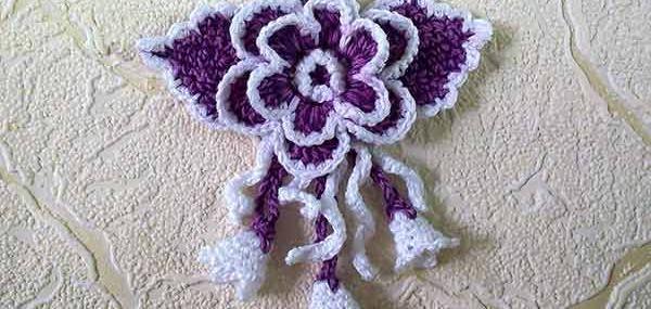 вязанный цветочный букет, вязанные цветы, объёмный цветок, вязанная роза, рукодельный урок по вязанию, как связать, сумочка для девочки