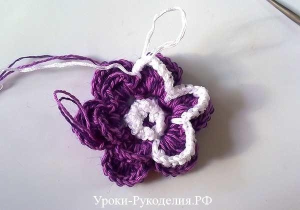 объёмный цветок, как связать розу крючком, цветы для сумочки, вязание для детей, сумочка для девочки