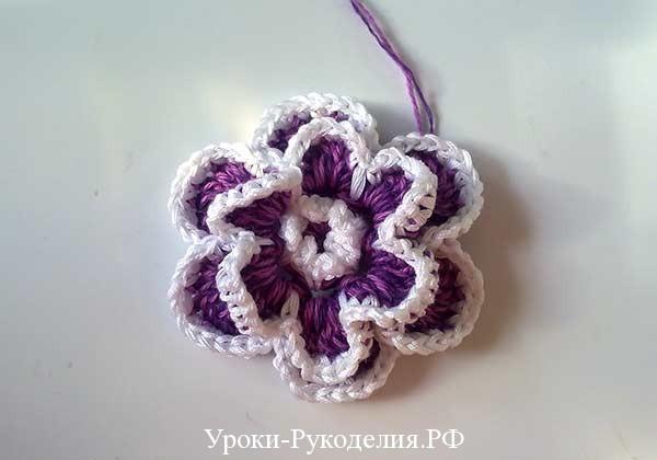 шикарный цветок крючком, связать объёмный цветок, вязание цветов, рукодельный урок, мастер-класс по вязанию