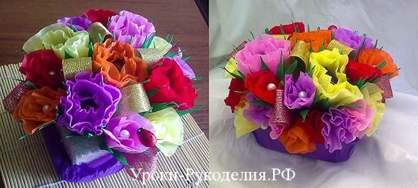 рукодельные уроки по свит дизайну, мк букеты из конфет, композиция из конфет, сладкий подарок, бумага цветы, декор букета, ручной букет, как изготовить букеты из конфет, мк свит дизайн, цветы как сделать из бумаги