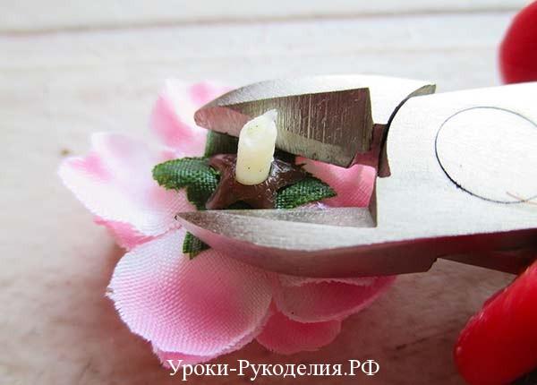 декоративный цветок, украшение из цветов, ободок для девочки, обруч на голову, как приклеить цветы к ободку