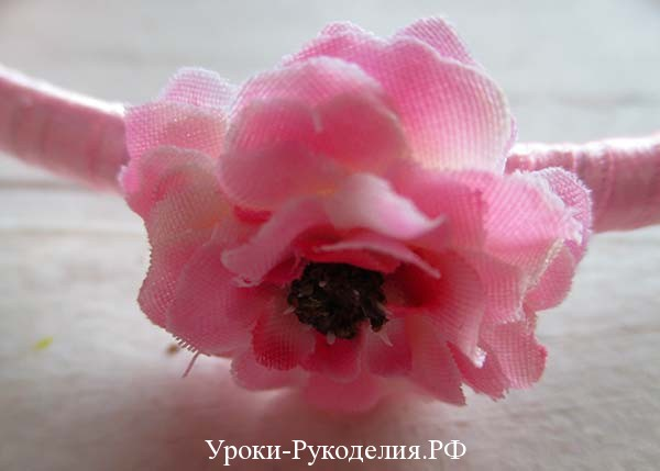 декоративные цветы и украшения, ободок на голову, цветы для украшения волос, уроки рукоделия