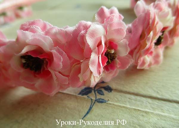 цветочный ободок, украшение для волос, для девочек, как сделать аксессуар, чем украсить ободок на голову