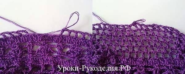 узор сетка крючком, ажур крючком, ажурные узоры крючком, сумочка вязанная, уроки рукоделия по вязанию, своими руками, вязанный подарок, как связать сумку-мешочек, схема сумки, выкройка сумки