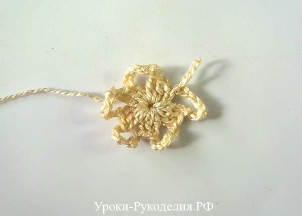 маленький цветок крючком, схема цветка, винтаж