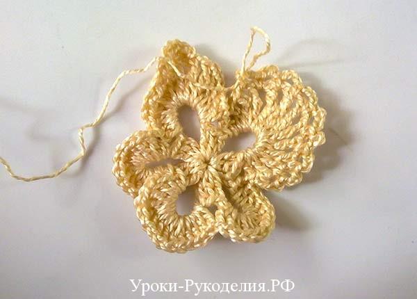 фрагмент крючком, кружево, ирландка, вязание, винтаж в рукоделии