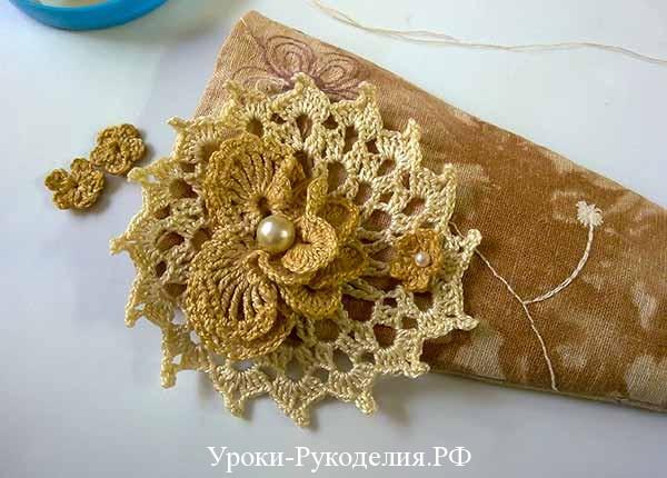 украшение бисером, как пришить бисер, винтажное украшение своими руками, рукоделие