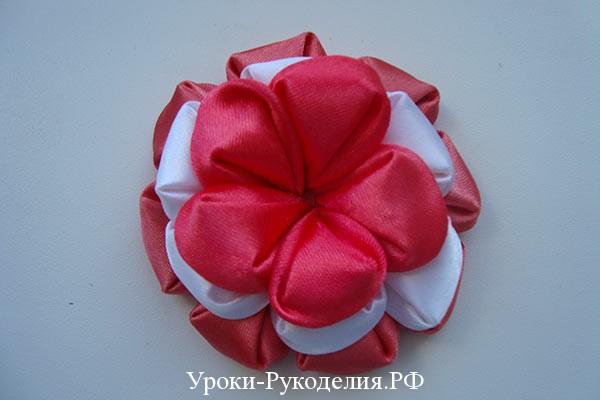 Цветок из ленты 2 5 см