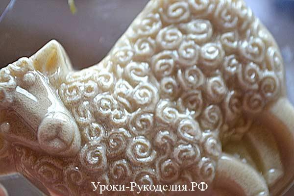 застывает мыло, декоративное мыло, барашки овечки, символ овечка, мыло своими руками рецепты