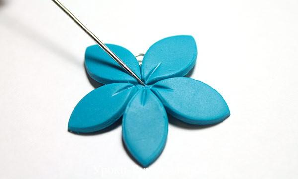полимерная глина в домашних условиях, лепка из полимерной глины, цветы мк, декор стразы глина