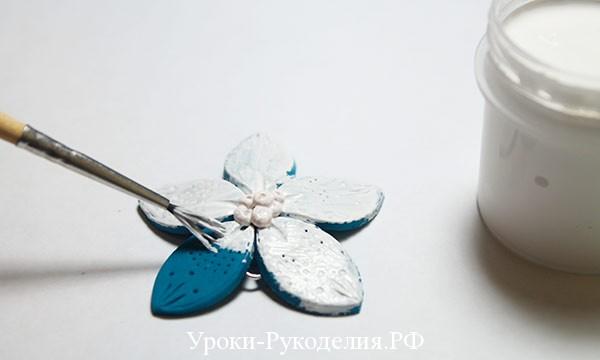 акриловой краской, глина деко, кисть для красок, серёжки из полимерной глины, уроки мк полимерная глина, швензы, пины, утканос