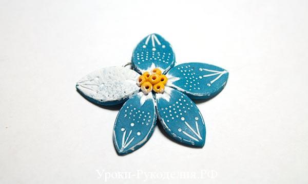 полимерная глина для цветов, как лепить из глины, украшения мастер класс