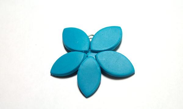 полимерная глина украшение мастер класс, серёжки из полимерной глины, бижутерия цветы из полимерной глины