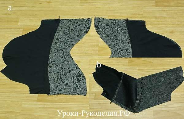 двойной рукав вывернуть, шить рукав для платья