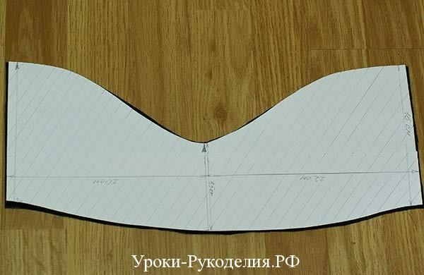 фигурный срез, высота головки, часть выкройки