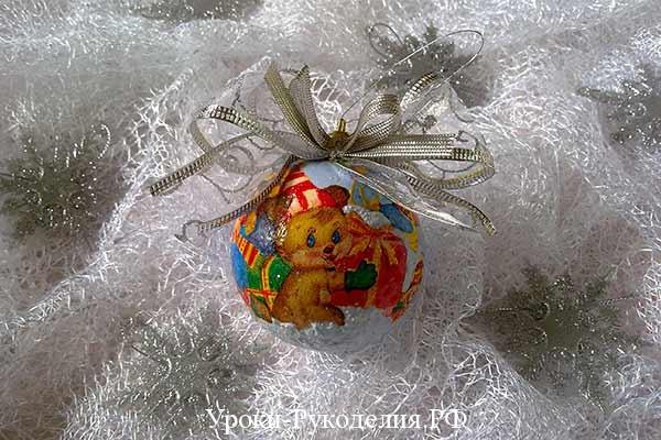 сувенирный шарик на ёлку, авторские шары на ёлку, как украсить шарить на ёлочку