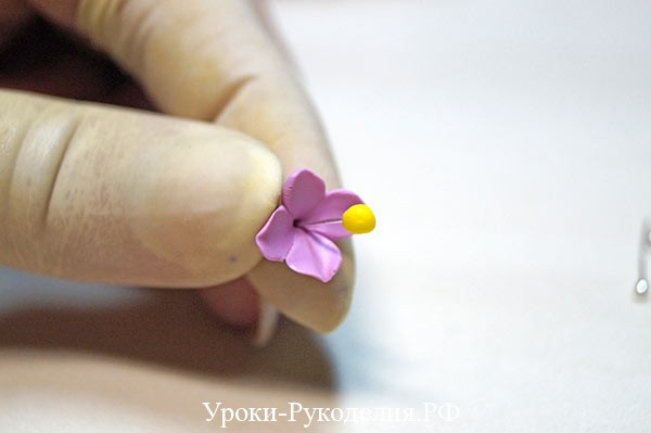 полимерная глина цветок мастер класс, полимерная глина мк