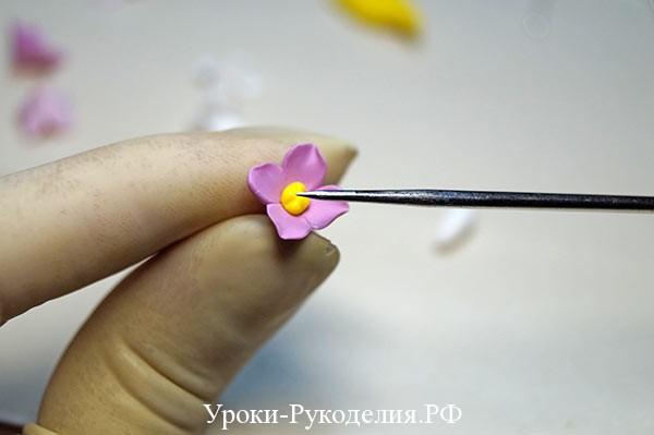 работа с полимерной глиной, как смешать полимерную глину, серьги своими руками, серьги цветы