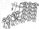 удлинить ряд методом частичного вязания