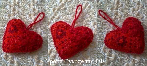 сделать сувенир, из флиса, поделки сердце