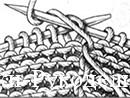 смена цвета в вязании на спицах, интарсия метод