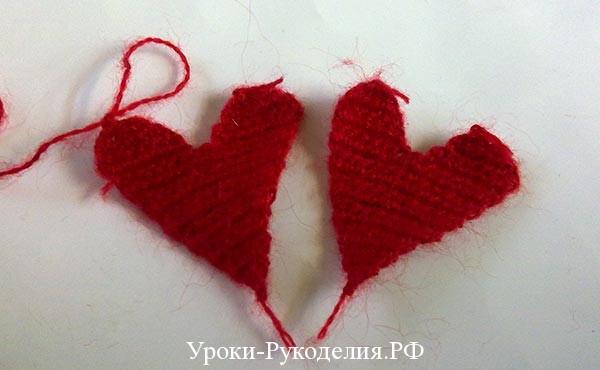 как связать валентинку, вязанная крючком валентинка