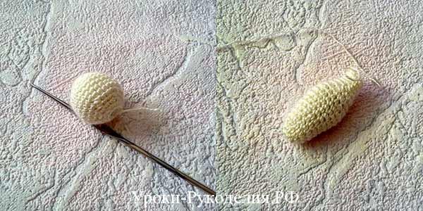вязание амигуруми, вязаный заяц крючком