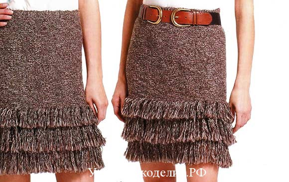 шерстяная вязаная юбка