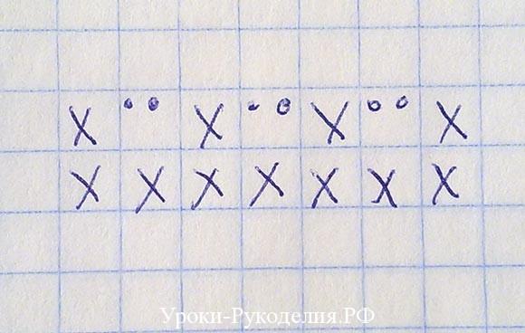 схема фото крючок