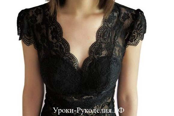 чёрный ажур с чем носить