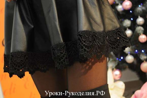 кружевной подол юбки