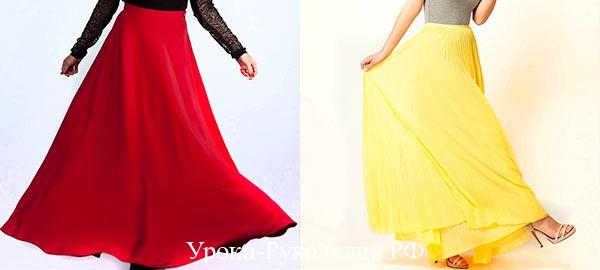Как сшить длинную юбку для лета