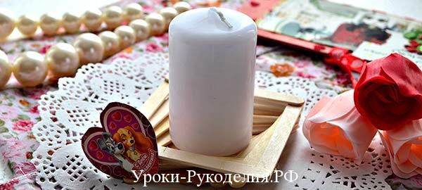 подставка для свечи своими руками