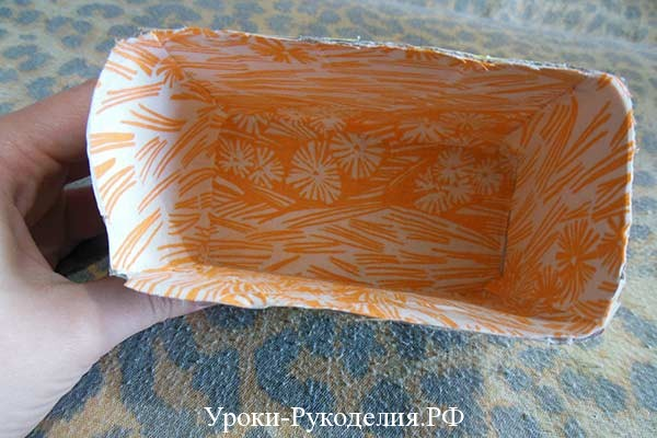 декорированная коробка тканью