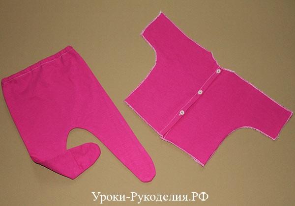 комплект из ползунков рубашки сшитый