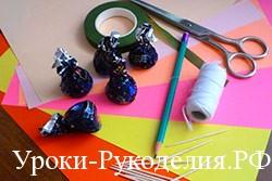 конфеты бумага на столе