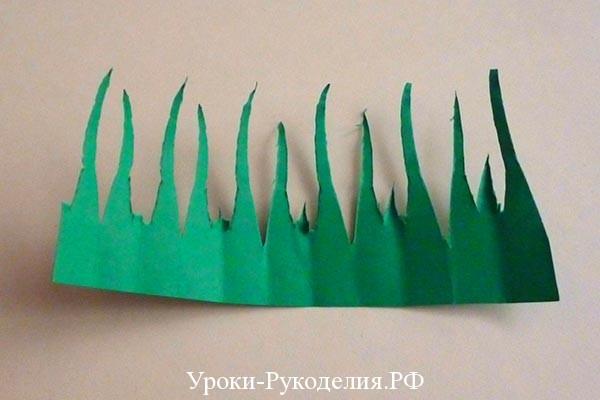 зелёная бумага для букета из конфет