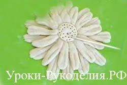 цветок из солёного теста