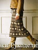 стиль вязаной юбки