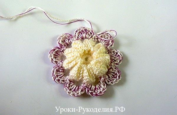 кружевной мотив схема крючком цветы