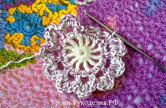 пышный цветок фото схема мастер класс
